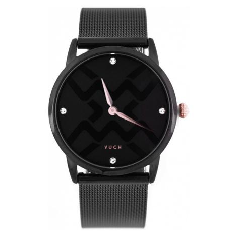 Dámské černé hodinky Josette VUCH