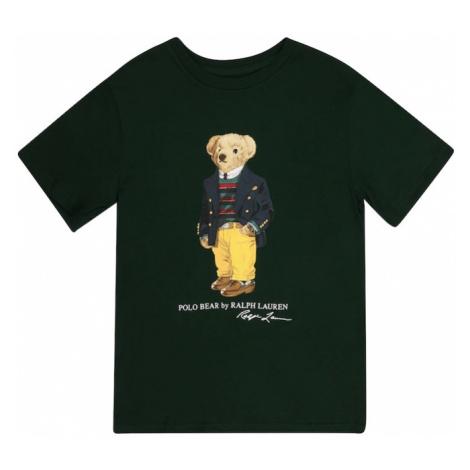 Polo Ralph Lauren Tričko tmavě zelená / bílá / žlutá / béžová