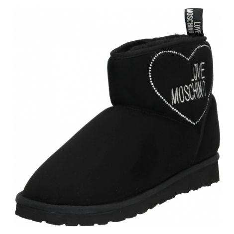 Love Moschino Sněhule 'WINTER LOVE' černá / bílá