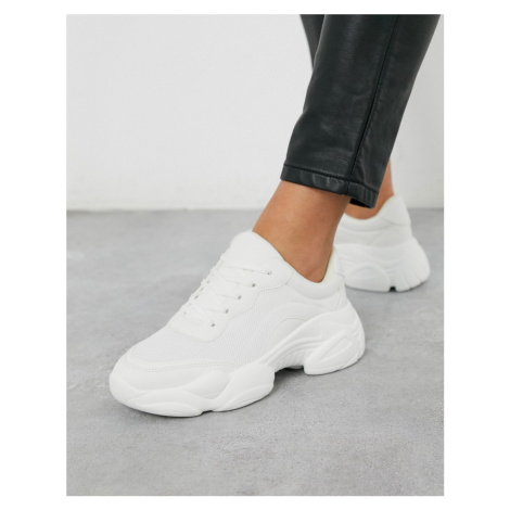 ASOS DESIGN Destined chunky trainers in white
