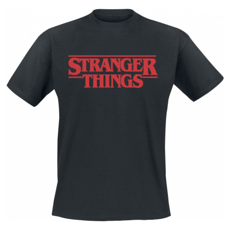 Stranger Things Classic Logo Tričko černá