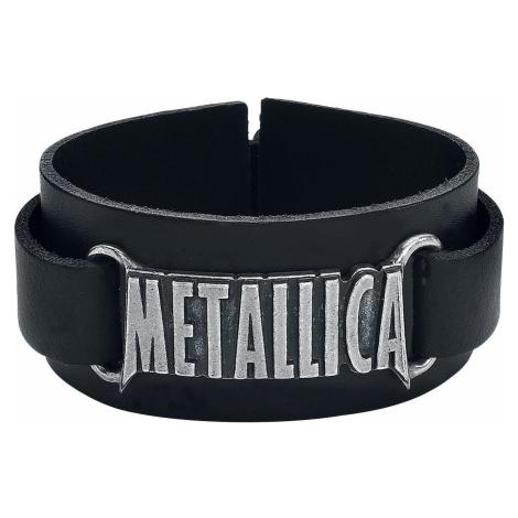 Metallica Metallica Logo Kožený náramek černá
