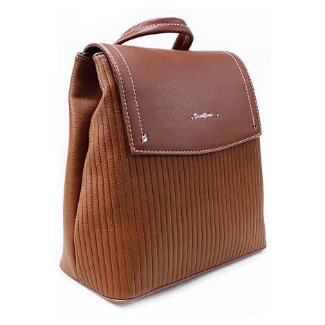 Hnědý elegantní dámský batoh Kalcey David Jones