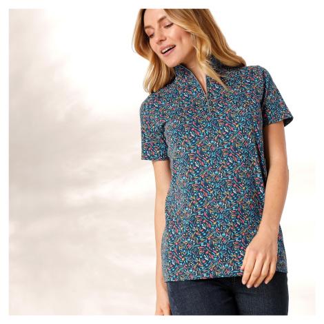 Blancheporte Bavlněné tričko s potiskem nám.modrá