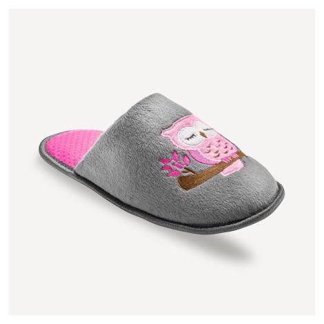 Blancheporte Pantofle s motivem sovičky šedá