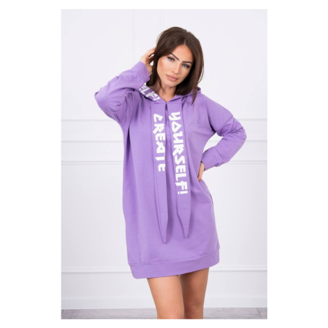 Dress with hood Oversize purple Kesi