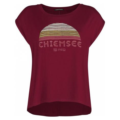 RED by EMP Cervené tricko RED X CHIEMSEE s potlacou Dámské tričko červená