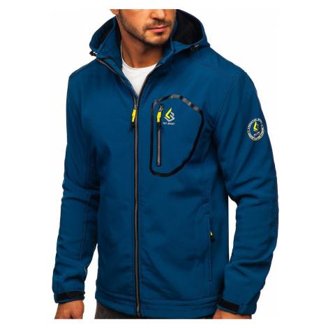 Modrá pánská přechodová softshellová bunda Bolf AB143 FREESTEP