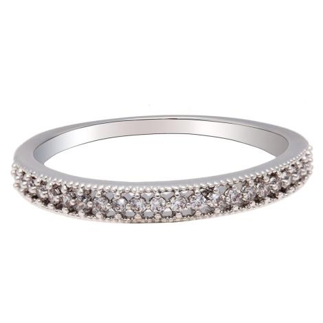 Anna Grace prstýnek Silver Sparkle Crystal 80 - 18 mm