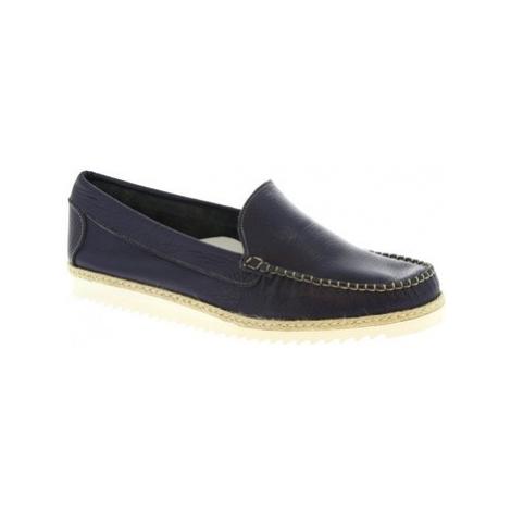 Leonardo Shoes 239 VITELLO BLU REALE Modrá