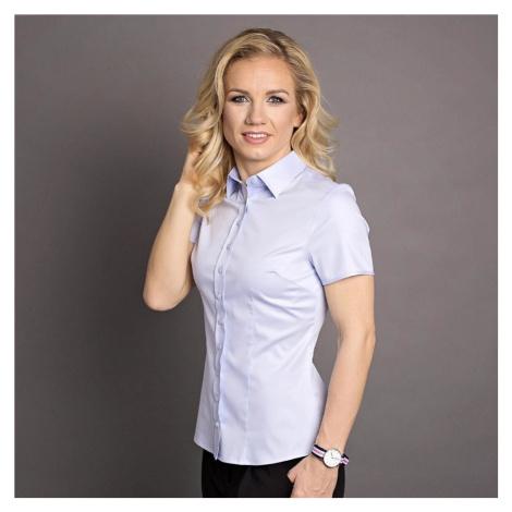 Dámská košile Willsoor 6254 ve světle modré barvě s krátkým rukávem
