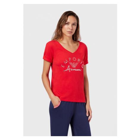 Dámské triko Emporio Armani 164334 0P291 červená | červená
