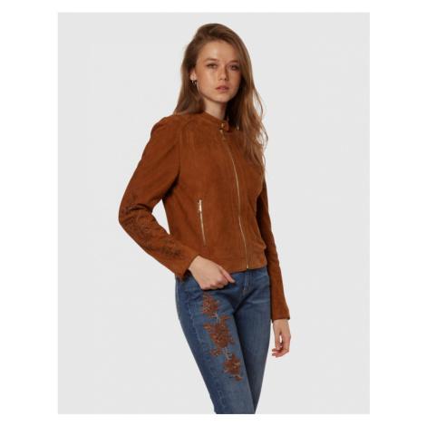 Bunda La Martina Woven Leather Jacket Leather V - Hnědá