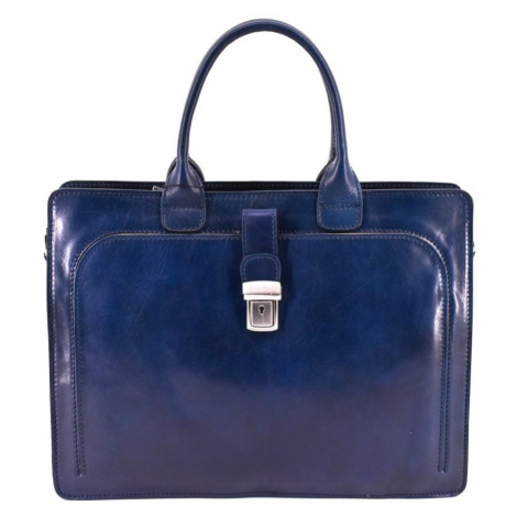 Dámská kožená kabelka/aktovka Arteddy - tmavě modrá