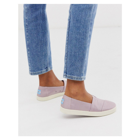 TOMS slip on shoes in lilac-Purple