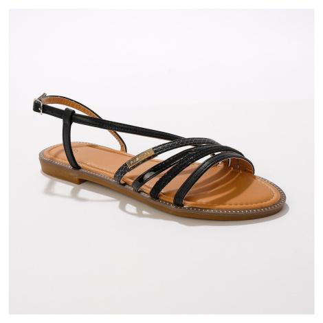 Blancheporte Plochá páskové sandály, černé černá