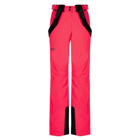 KILPI Dámské lyžařské kalhoty - větší velikosti ELARE-W LLX040KIPNK Růžová