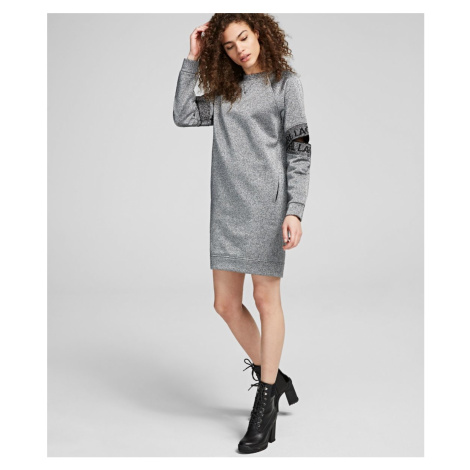 Mikina Karl Lagerfeld Cut Out Sleeve Sweat Dress - Červená