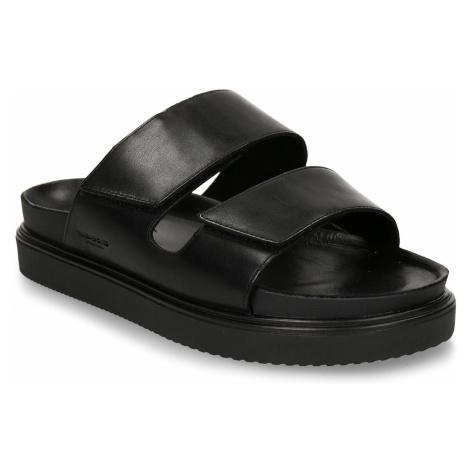 Černé pánské kožené pantofle Vagabond