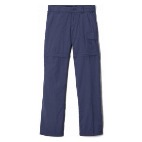 Columbia SILVER RIDGE IV CONVERTIBLE PANT tmavě modrá - Dětské outdoorové odepínatelné kalhoty