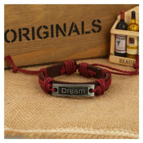 Buďchlap Dream náramek v bordó-hnědém provedení