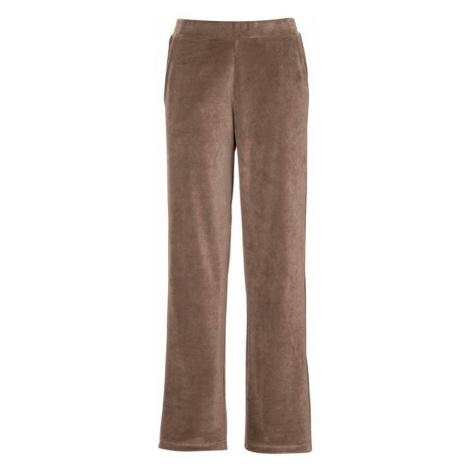 Velurové kalhoty se širokými nohavicemi Cellbes