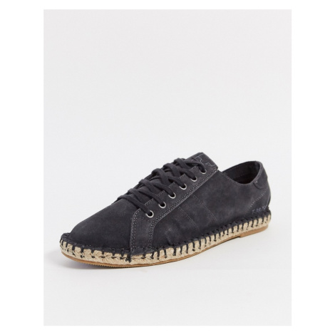 Pull&Bear lace up espadrilles in navy Pull & Bear