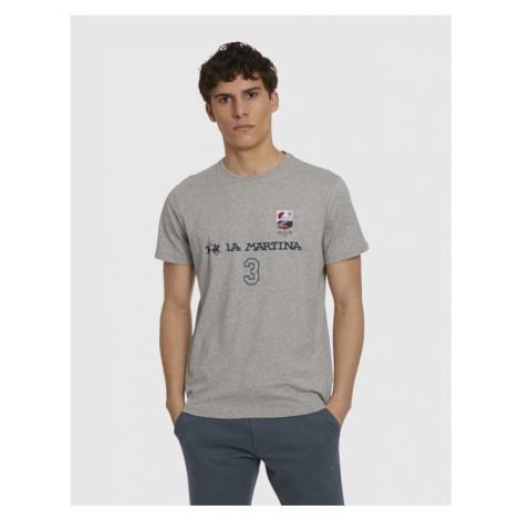 Tričko La Martina Man S/S Co Jersey T-Shirt - Šedá