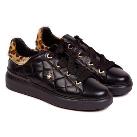 Tenisky La Martina Woman Shoes Nappa Leather - Černá