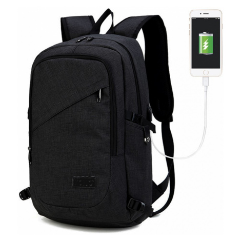 Černý moderní batoh s USB portem Acxa Lulu Bags