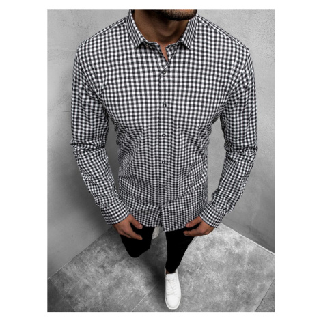 Černo-bílá košile s dlouhým rukávem O/3011/20