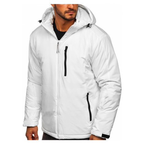 Bílá pánská zimní lyžařská sportovní bunda Bolf HH011 J.STYLE