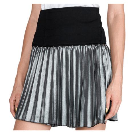 Stříbrno-černá skládaná sukně - VERSACE JEANS