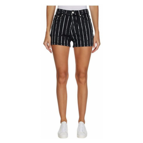 Calvin Klein Calvin Klein dámské černé kraťasy s pruhy HIGH RISE SHORT