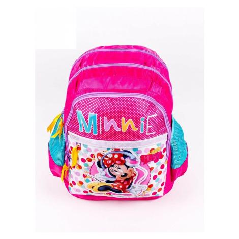 Barevný dívčí školní batoh s motivem Minnie Mouse BASIC