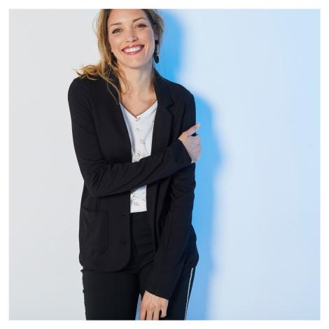 Blancheporte Jednobarevné sako z Milano úpletu černá