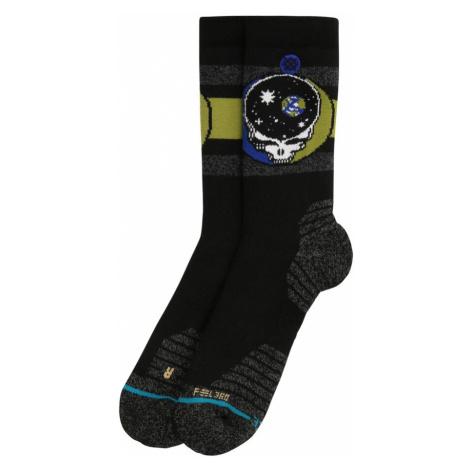 Stance Sportovní ponožky 'SPACE YOUR FACE' černá / šedý melír / jablko