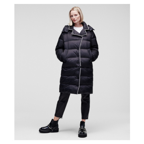 Kabát Karl Lagerfeld Transformer Down Coat W/Hood - Černá