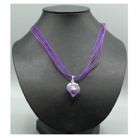 Buddhanaramek Ametyst surový náhrdelník 8105