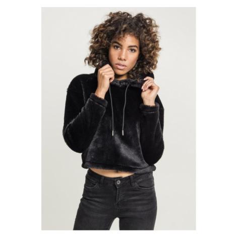 Urban Classics Ladies Oversize Short Teddy Hoody black