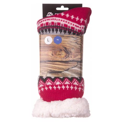 ALPINE PRO SINNIR 3 Unisex hřejivé ponožky USCP056450 virtual pink