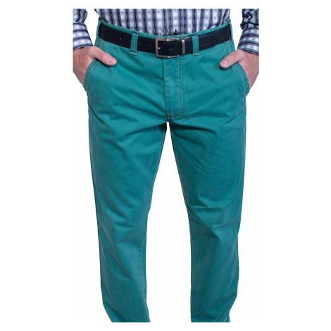 Zelené voľnočasové nohavice Alain Delon