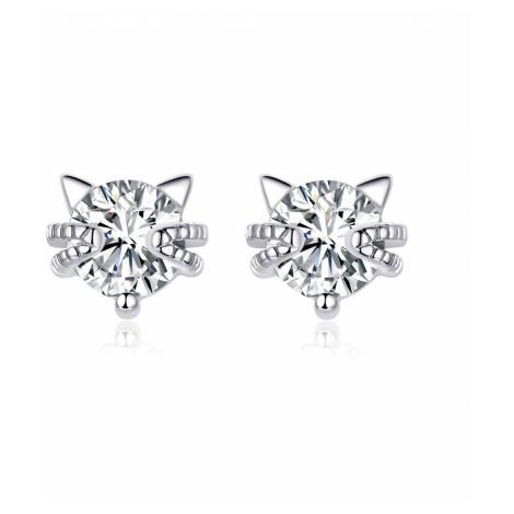 Linda's Jewelry Stříbrné náušnice Svůdná Kočka Pecky Ag 925/1000 IN243