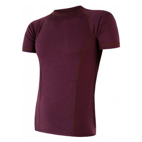Pánské tričko SENSOR Merino Air vínová