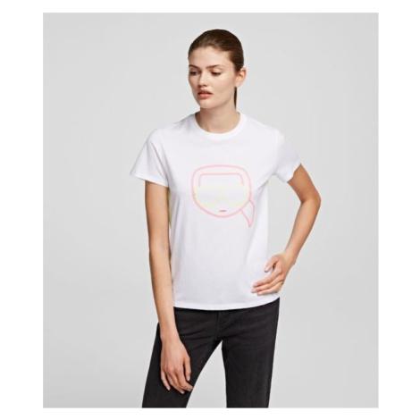 Tričko Karl Lagerfeld Ikonik Karl Face T-Shirt - Bílá