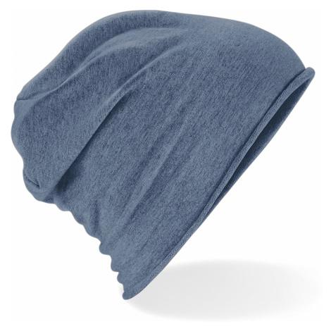 Stylová Jersey čepice - denim blue Beechfield