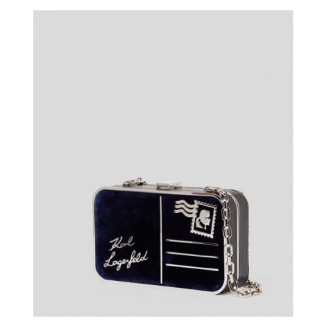 Kabelka Karl Lagerfeld K/Postcard Velvet Minaudiere