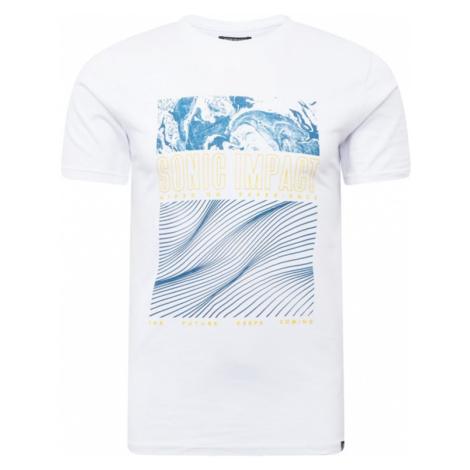 SHINE ORIGINAL Tričko 'Surf' bílá / nebeská modř / žlutá