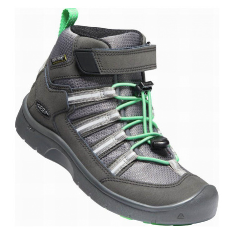 KEEN HIKEPORT 2 SPORT MID WP Y Dětská celoroční obuv 10007879KEN01 black/irish green