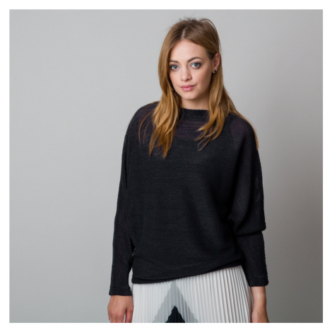 Dámský svetr ve střihu oversize černý 12052 Willsoor